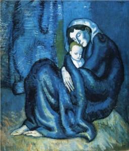 Mere et enfant. Pablo Picasso, 1902