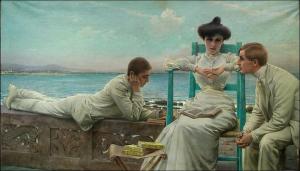 In lettura sul mare. V. M. Corcos, 1910