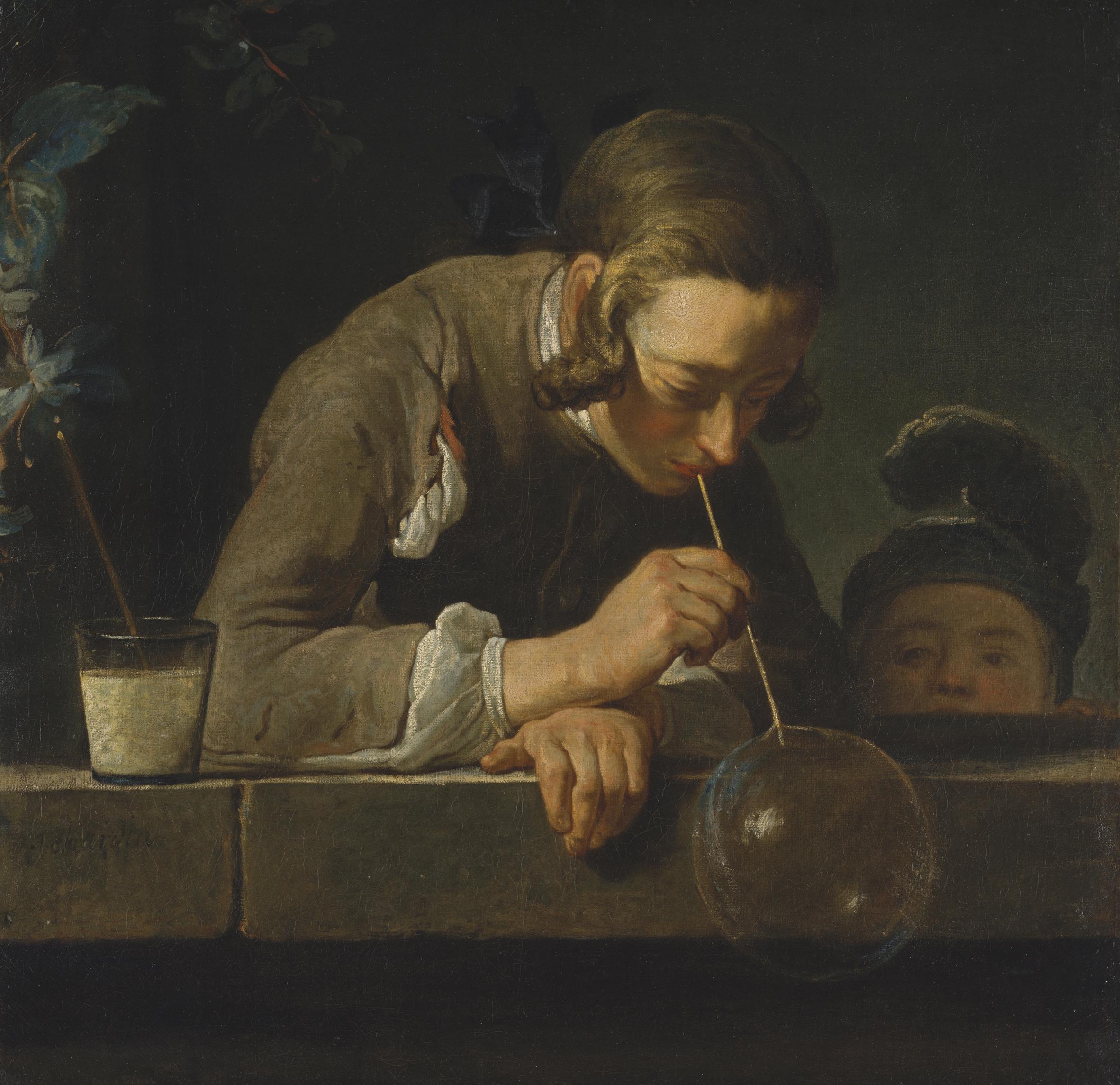 Jean-Baptiste-Siméon Chardin. Seifenbläser. 18 a.