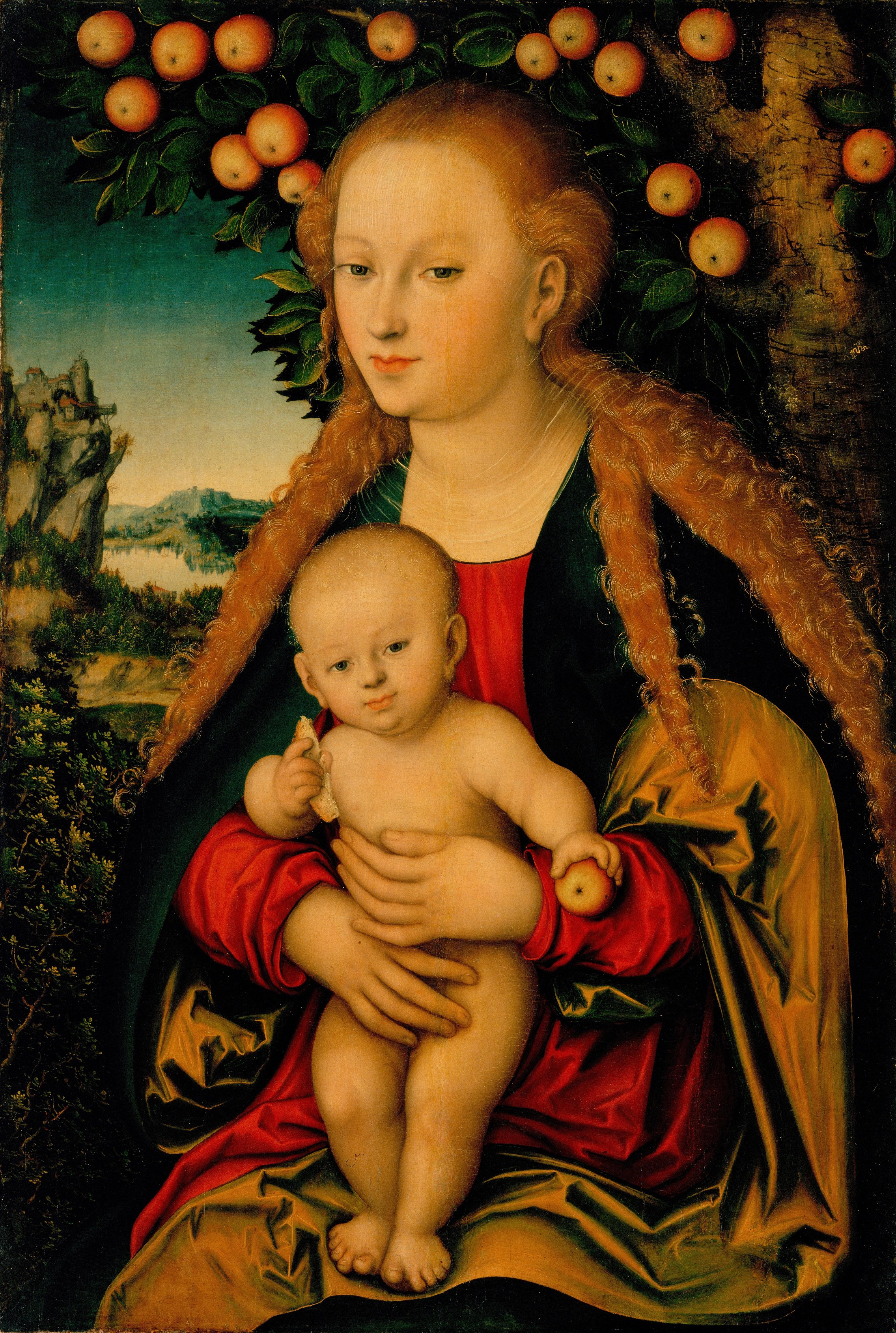 L.Cranach. Madona su Kūdikiu po obelimi (1525-1530)