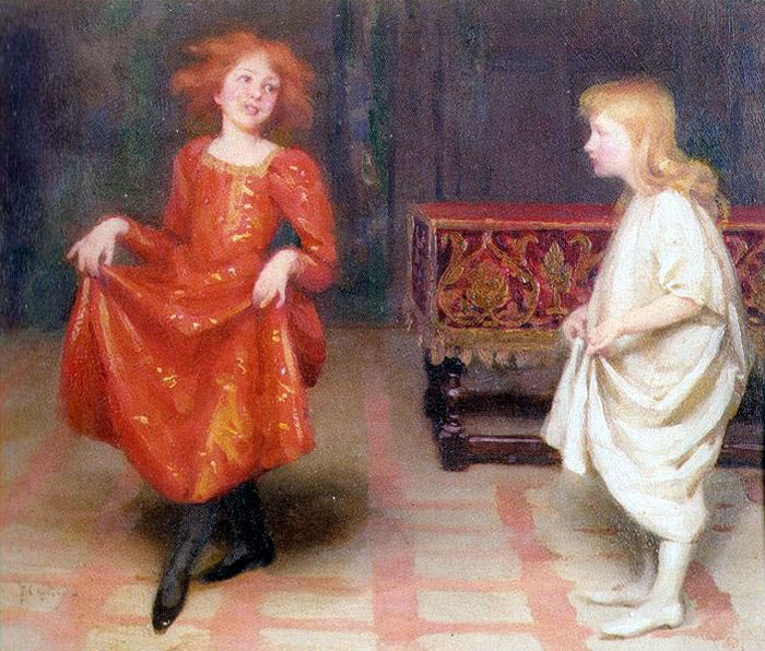 Thomas_Cooper_Gotch_TheDancingLesson