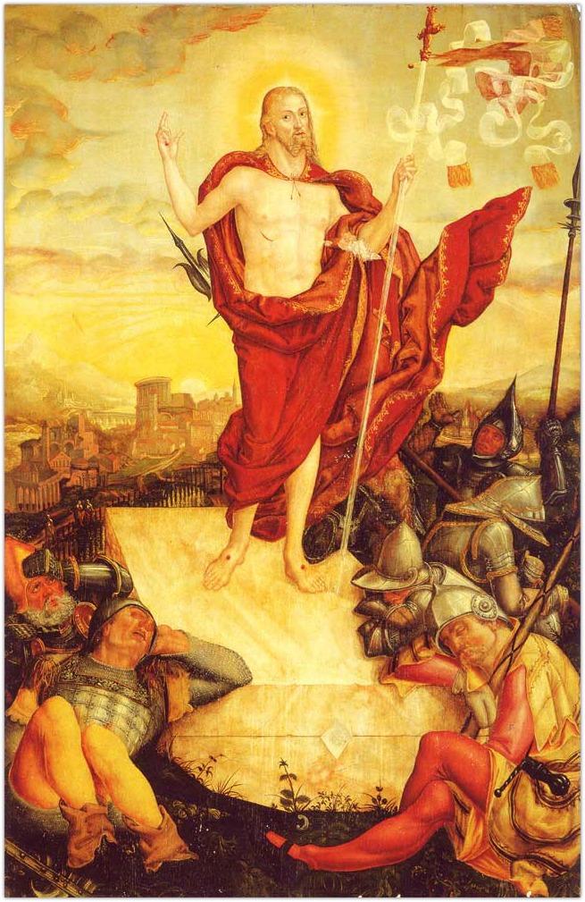 Velykos. Lucas Cranach jr Der Auferstandene Prisikeles Viespats 1558