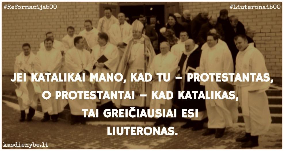 liuteronas katalikas protestantas
