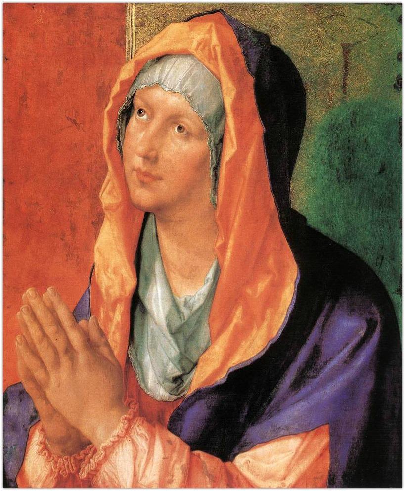 Durer,_madonna_in_preghiera 1518