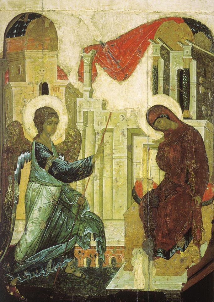 Apreiskimas Marijai. Rublev