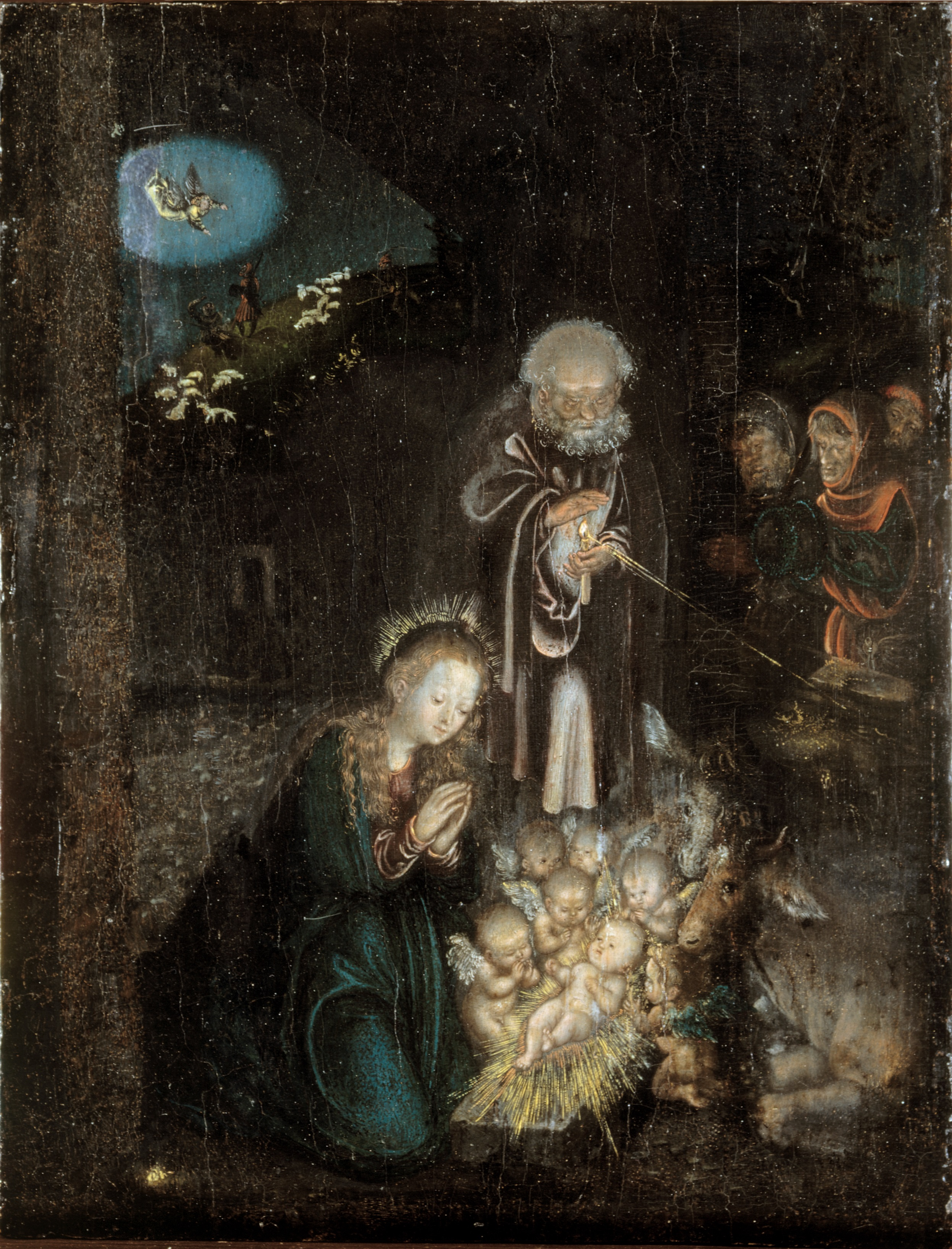 Kaledos. The Adoration of the Shepherds (Anbetung der Hirten) c. 1515–1520 Lucas Cranach the Elder