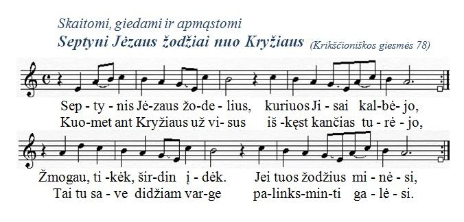 Septynis Jezaus zodelius