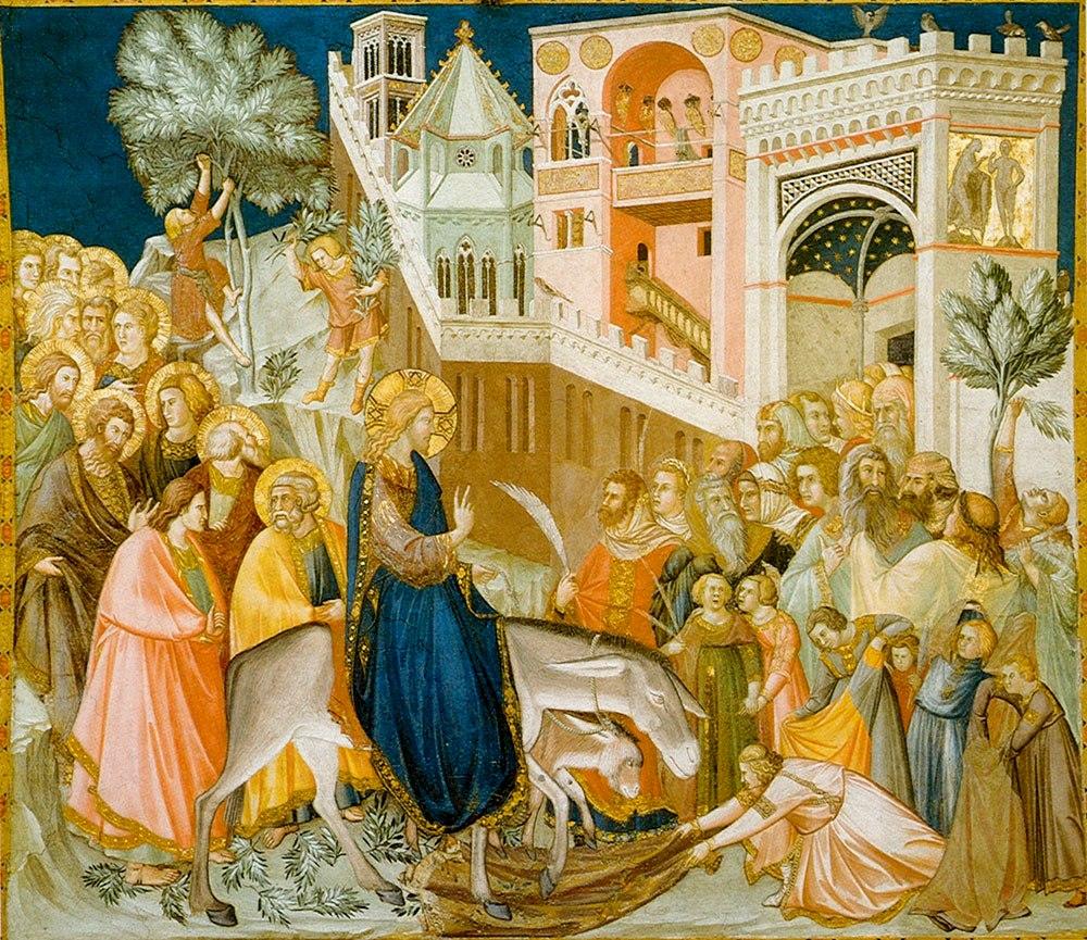 Verbų sekmadienis. Pietro Lorenzetti. 1320