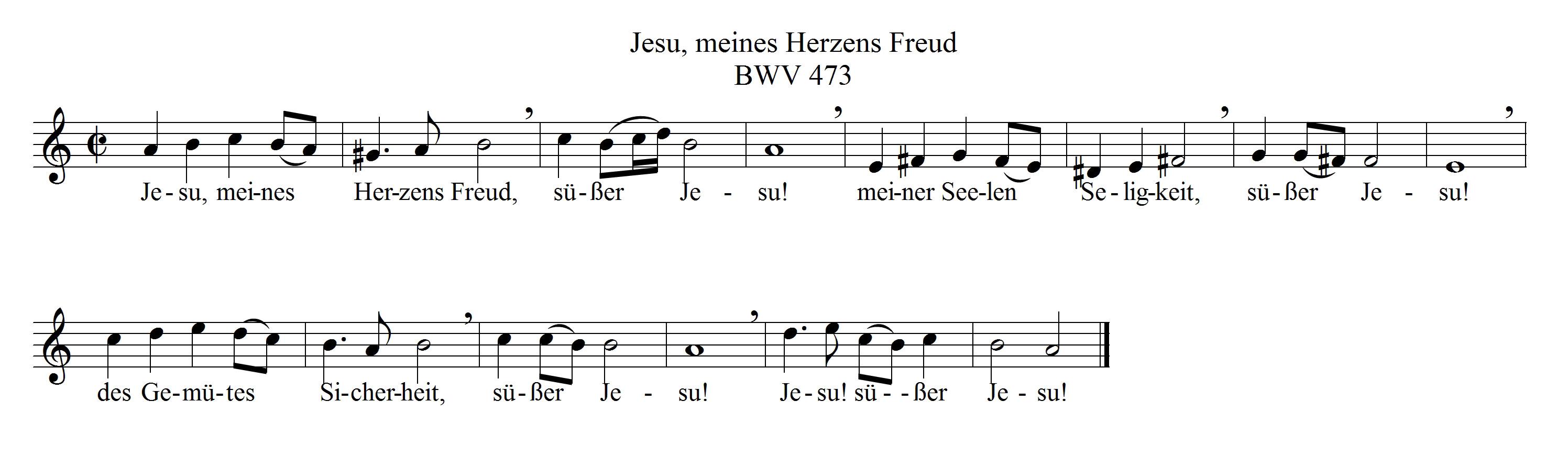 BWV473CMa Jesu meine herzens freud
