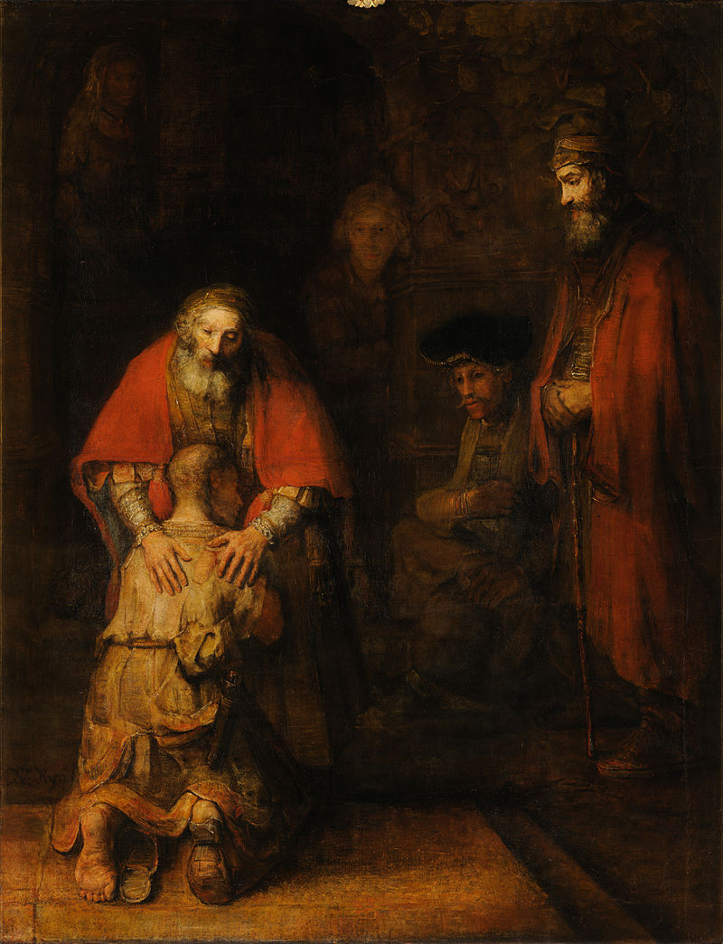 Sunus palaidunas Rembrandt van Rijn, The Return of the Prodigal Son, c. 1661–1669