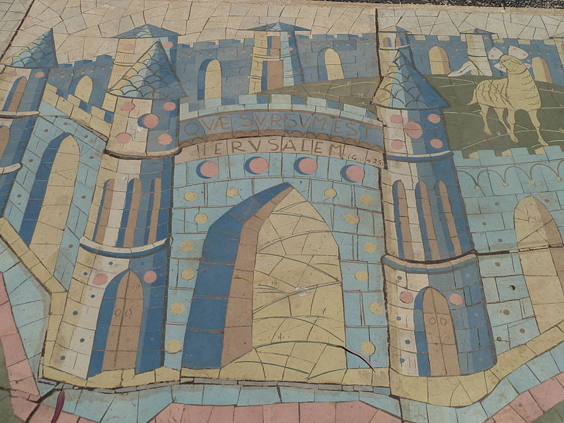 Jeruzale, Aukstybiu. Palaiminimu baznycios Izraelis mozaika Gal 4,26