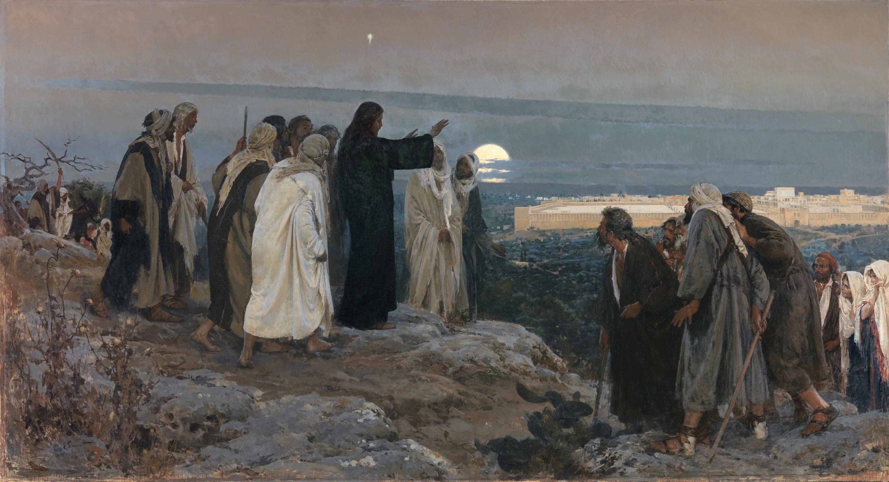 Jezus verke jo Enrique_Simonet_-_Flevit_super_illam_1892