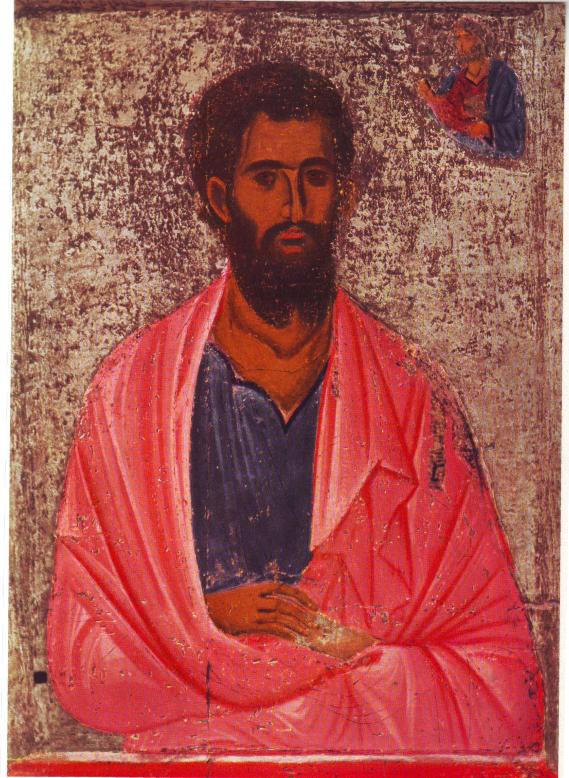 Jokūbas vyresnysis, apaštalas. Icon of saint Jacob. Pathmos, monastery of st. John the Evangelist. Святой Иаков. Монастырь св. Иоанна Богослова, Патмос, 12 век