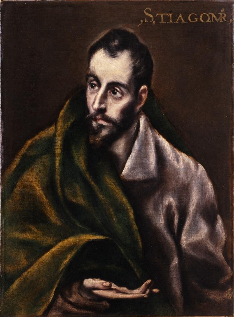 Jokūbas vyresnysis, apaštalas. Santiago_el_Mayor. El Greco. c. 1590