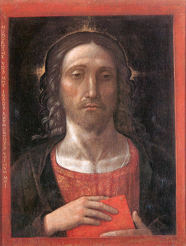Kristus Atpirkėjas. Andrea Mantegna,_redentore_a_correggio 1493