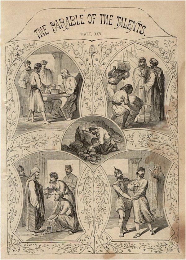Palyginimas apie dešimt talentų. John S. C. Abbott ir Jacob Abbott, 1878