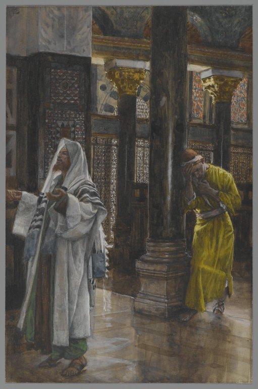 Fariziejus ir muitininkas. James Tissot 1886-94 The_Pharisee_and_the_publican_Brooklyn