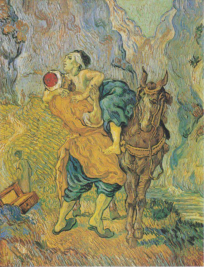 Gailestingasis samarietis. Vincentas van Gogas, 1890