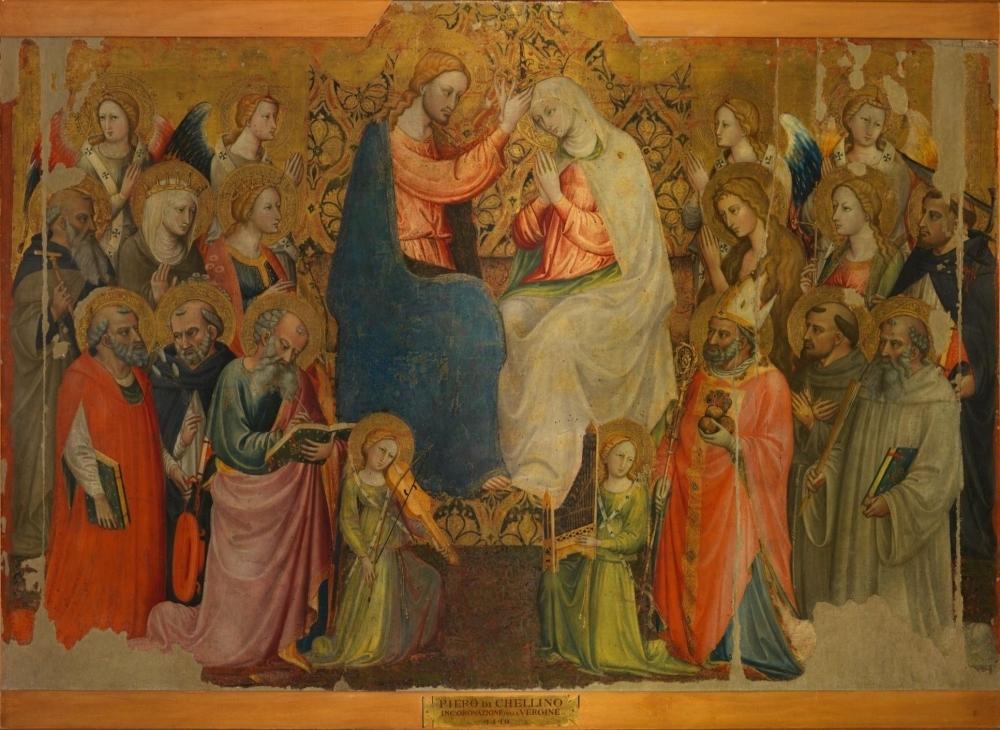 Marijos vainikavimas su angelais ir šventaisiais, Bičis di Lorencas, apie 1419 m. Valdovurumai.lt