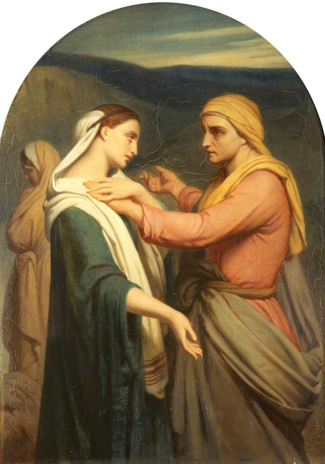 Scheffer, Ary, 1795-1858; Ruth and Naomi
