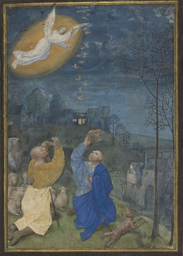 Angelai Annunciation_to_the_Shepherds_-_Emerson-White_Hours circa 1485-1490
