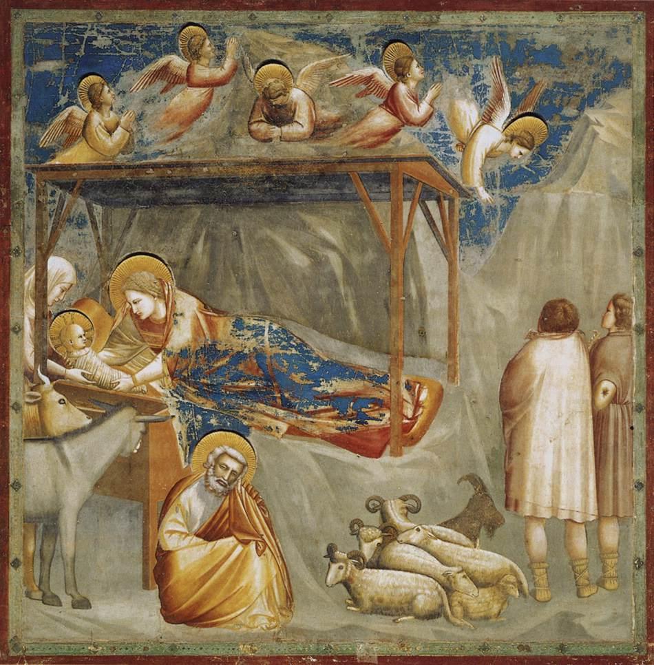 Nativity. Birth of Jesus. Giotto (1304-1306)
