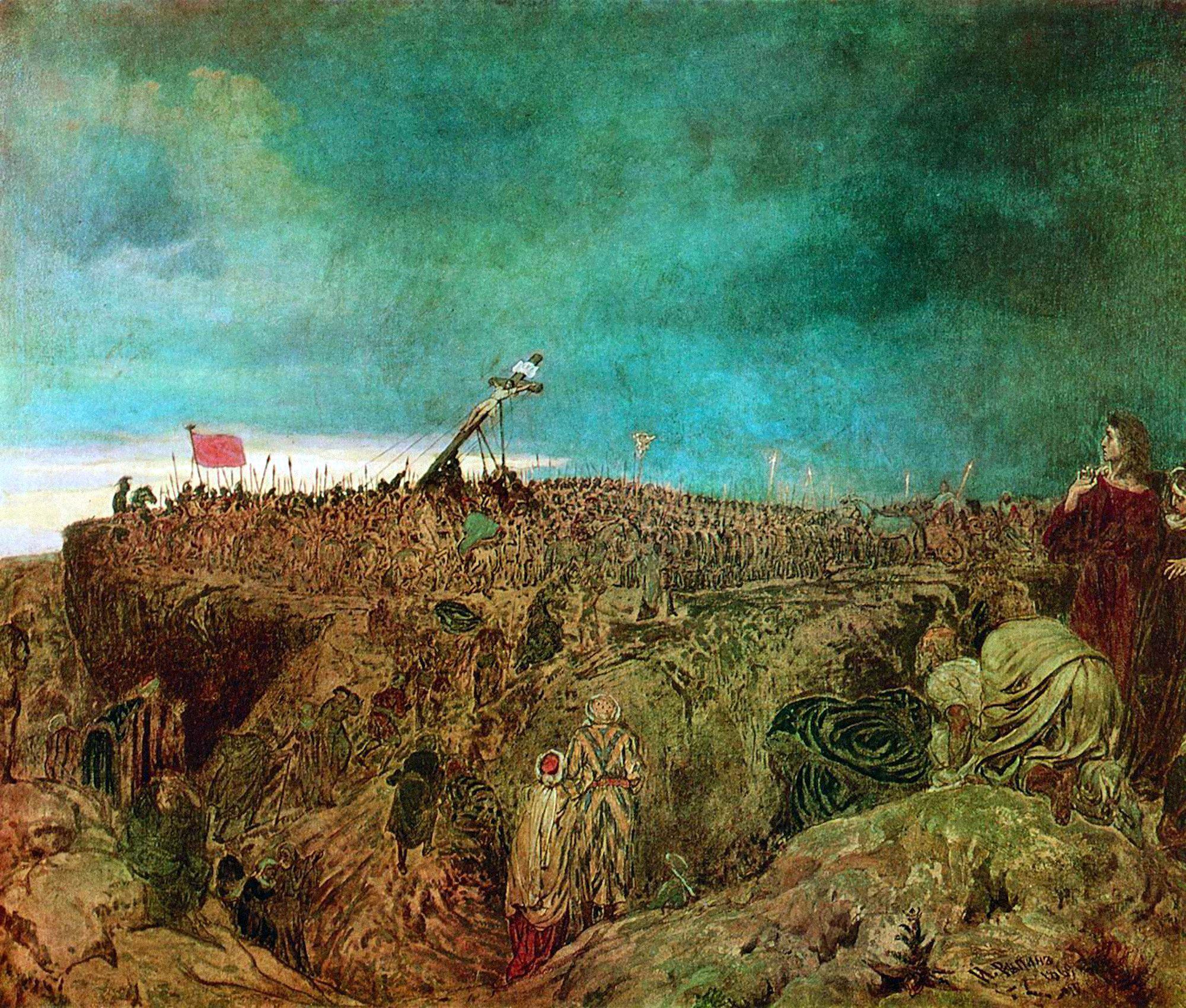 Nukryžiavimas. Golgota (Kristaus nukryžiavimas). Ilya Repin, 1869