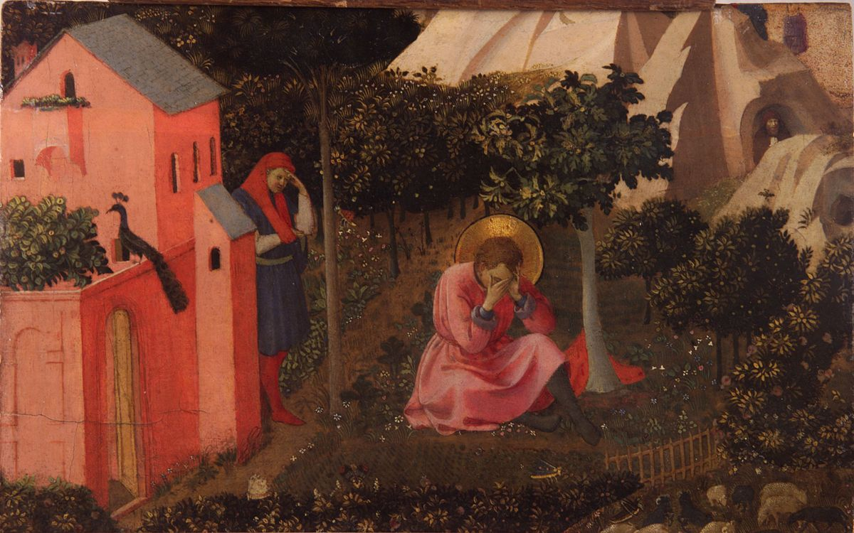 Augustinas. Šv. Augustino atsivertimas. Fra Angelico, between circa 1430 and circa 1435