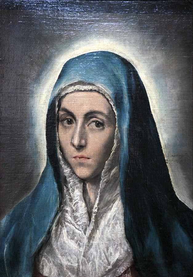 Marija. Sielvartingoji Motina. Mater_Dolorosa-El_Greco. 1590s