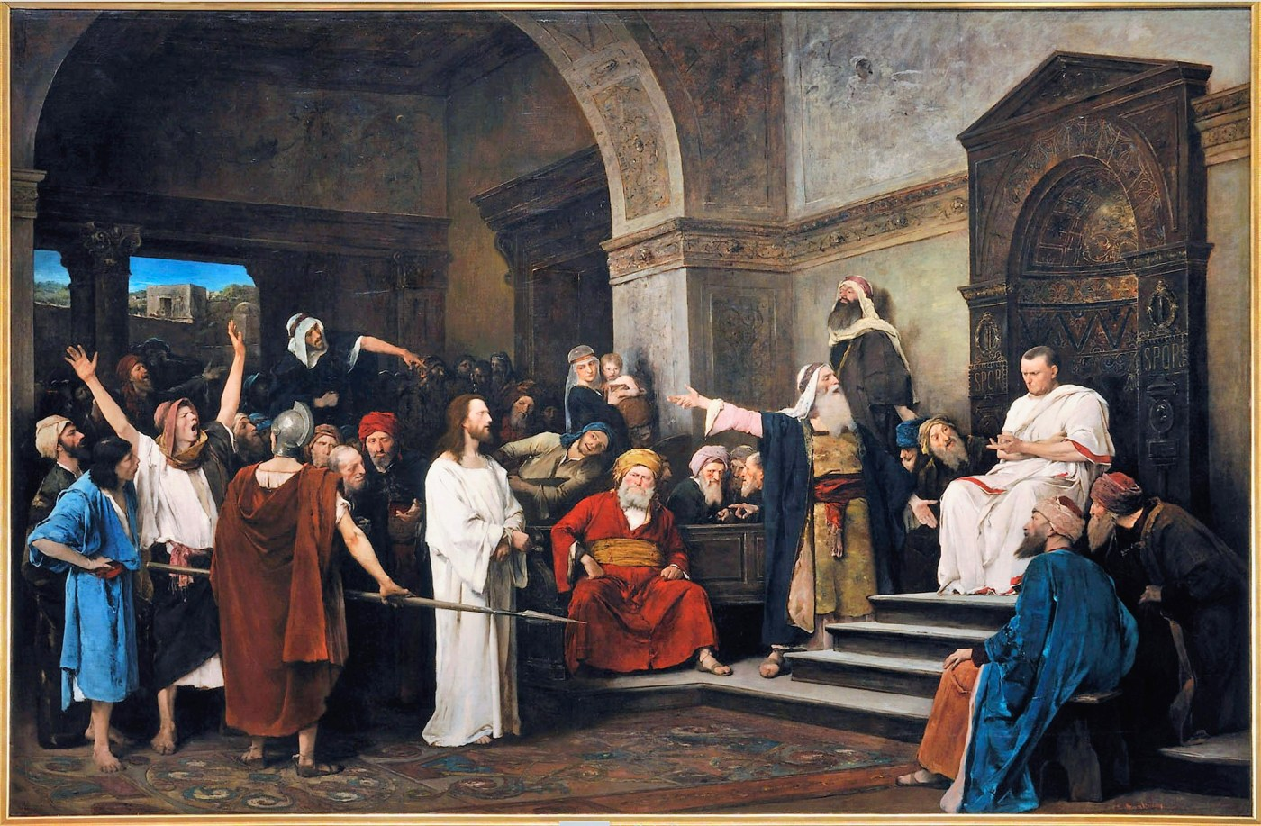 14 Munkacsy_-_Christ_in_front_of_Pilate