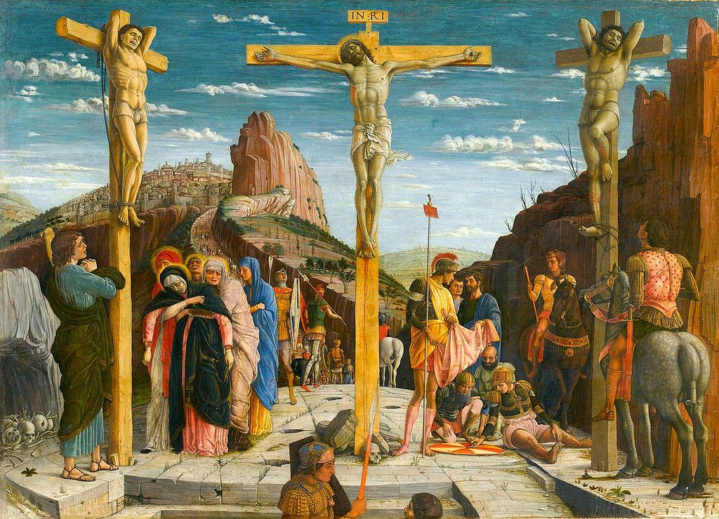 19 Mantegna_Andrea_-_crucifixion_-_Louvre_from_Predella_San_Zeno_Altarpiece_Verona