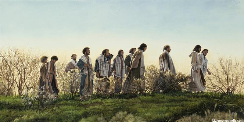 Jezus keliauja su mokiniais. Liz Lemon Swindle g. 1953