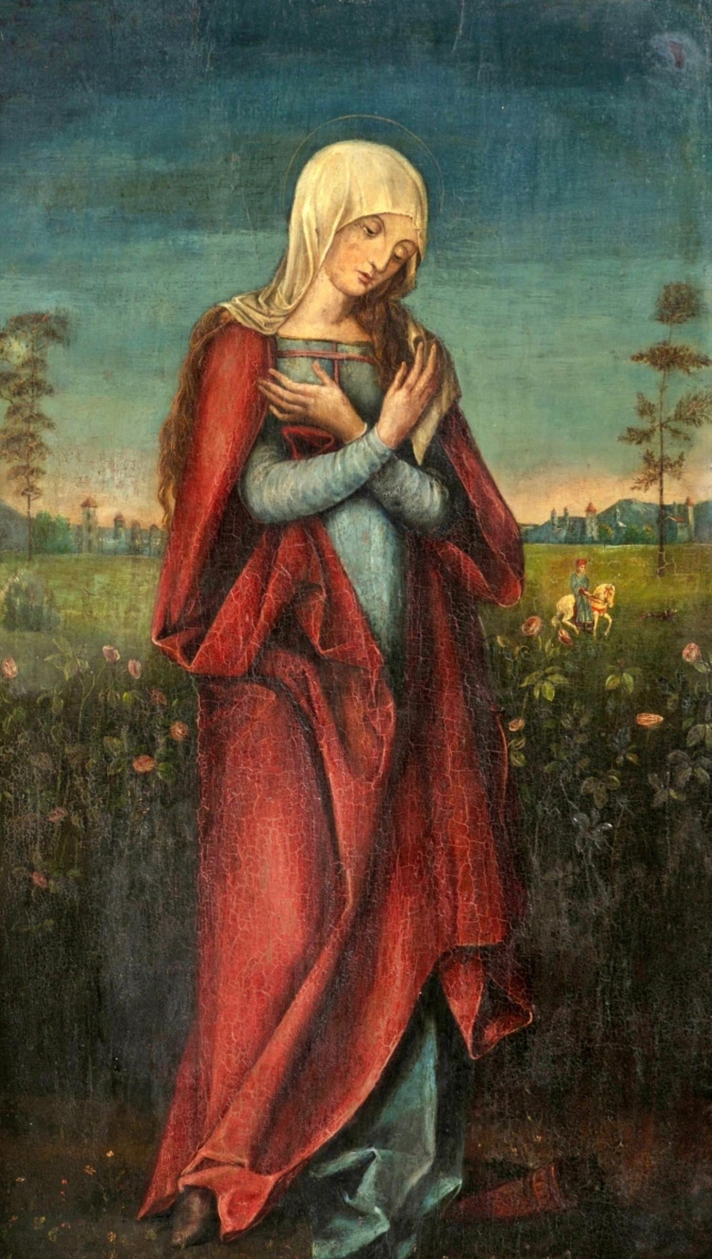Marija Mergelė. Mergelė rožių sode. Prisk. Lukui Kranachui vyr. 1472-1553 The Virgen in a Rose Garden