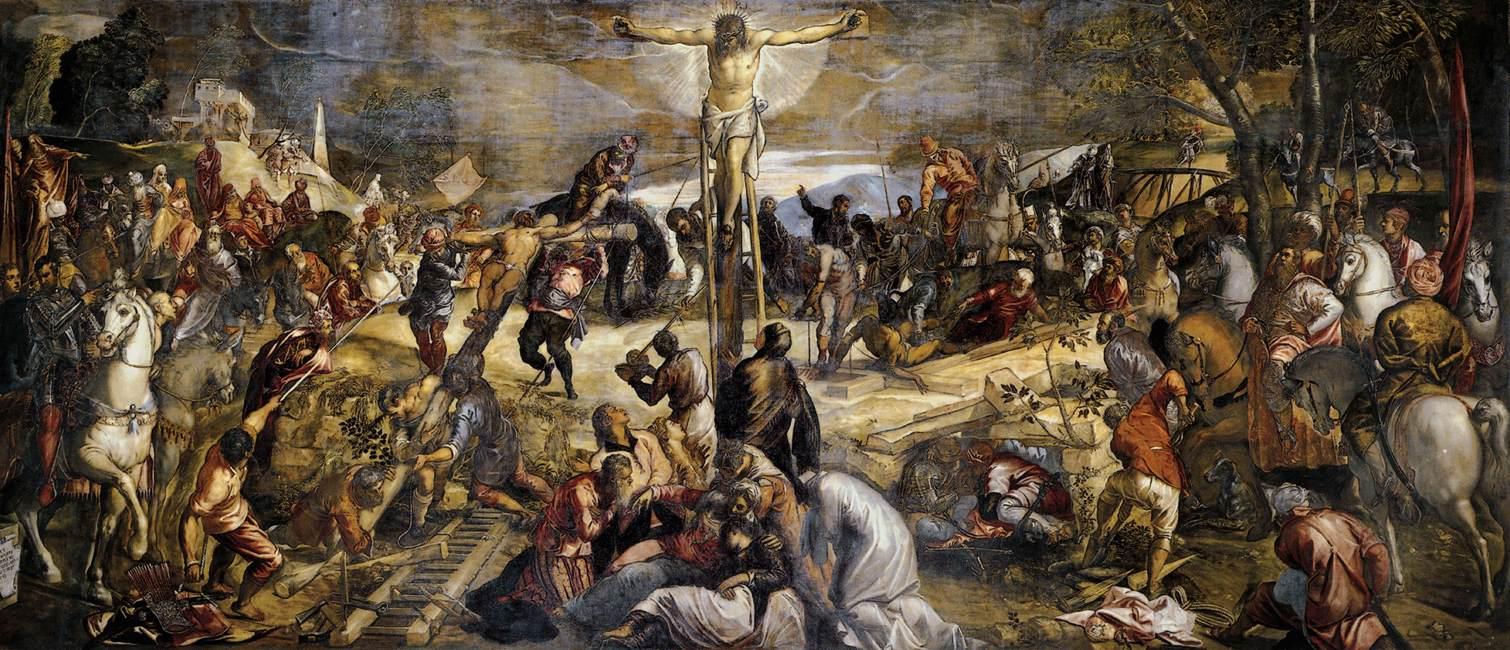 Nukryžiavimas. Jacopo Tintoretto, 1565 Crucifixion