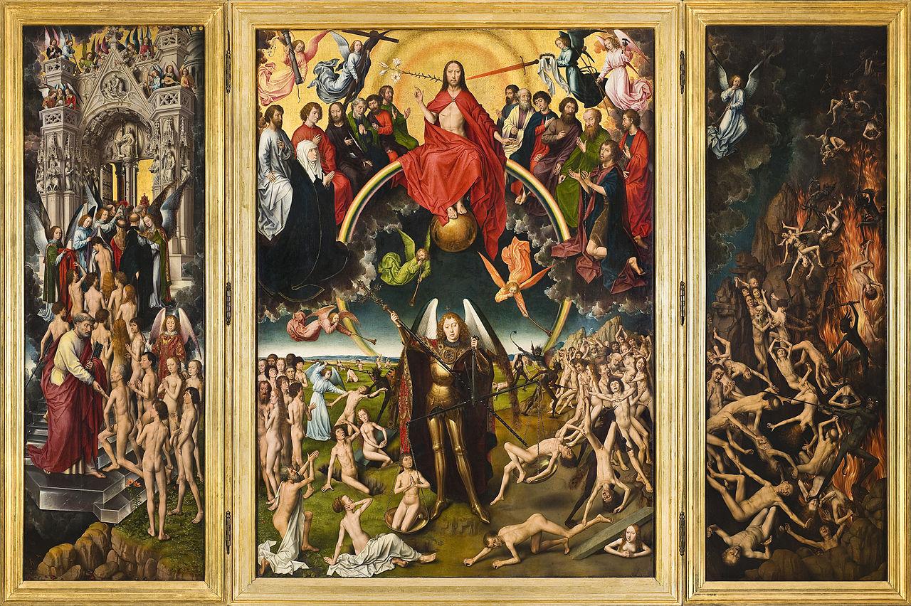 Paskutinis teismas attr. to Hans Memling c.1440-1494 Last Judgement Triptych in Muzeum Narodowe, Gdansk, Poland