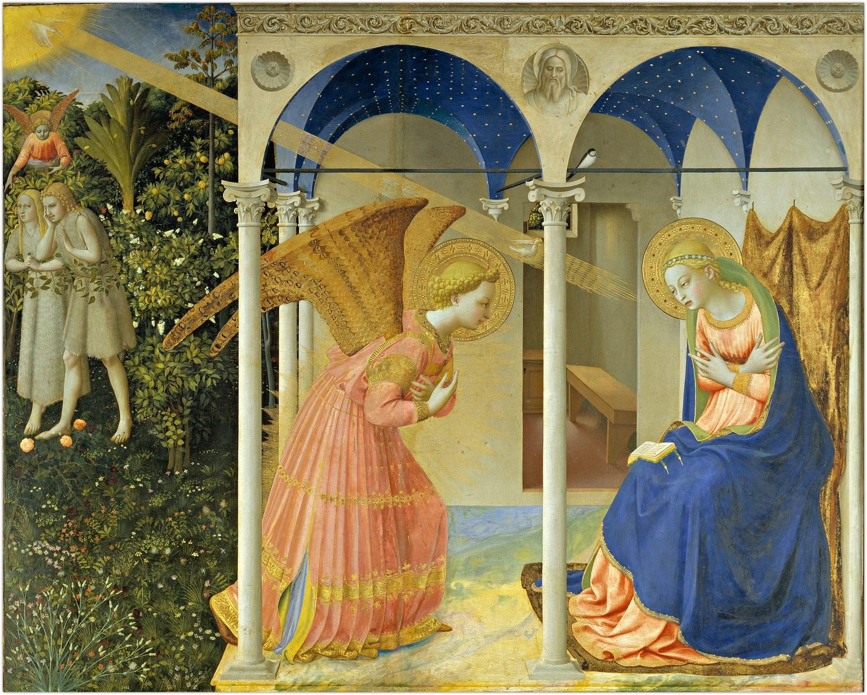 Apreiškimas Marijai. Fra Angelico, 1438-47
