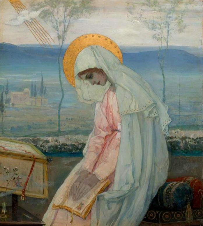Apreiškimas Marijai. M. V. Nesterov (Нестеров Михаил Васильевич), 1898