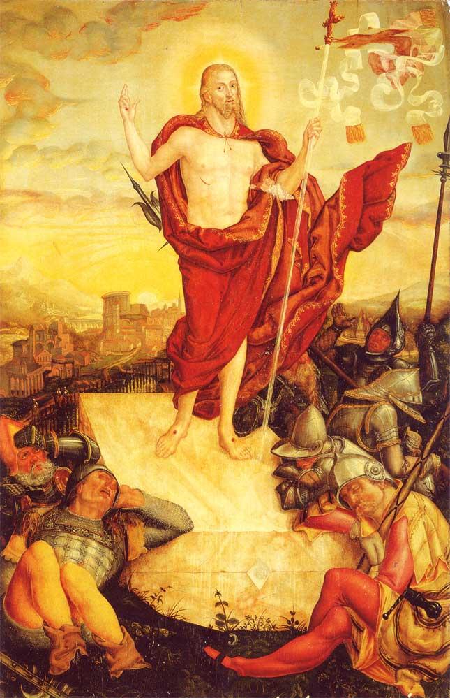 Prisikelimas. Lucas Cranach jr Der Auferstandene Prisikeles Viespats 1558