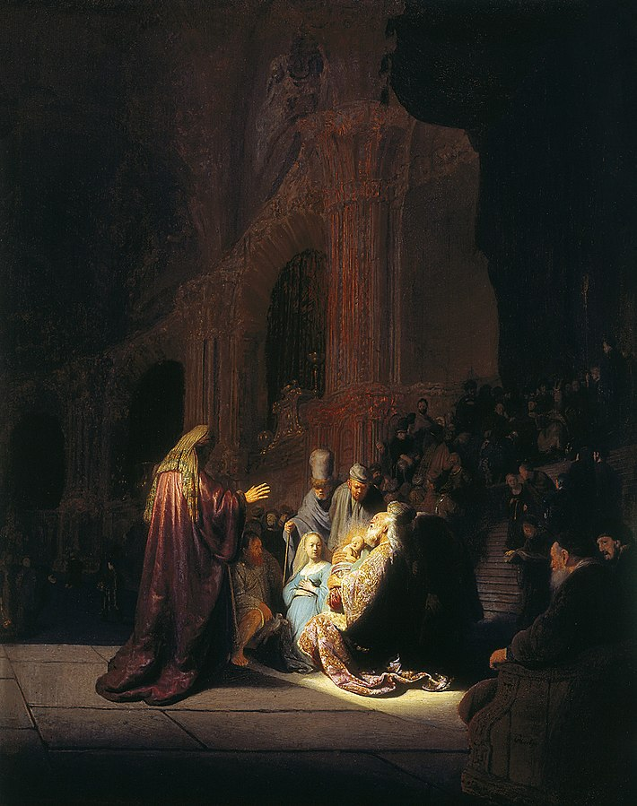 Simeono giesmė. Rembrandt, 1631